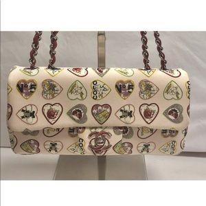 CHANEL Canvas Coco Hearts Small Flap Bag